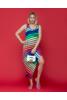LEO&UGO színes csíkos ujjatlan ruha