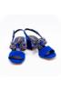 LUCIANO BARACHINI kék, köves szandál
