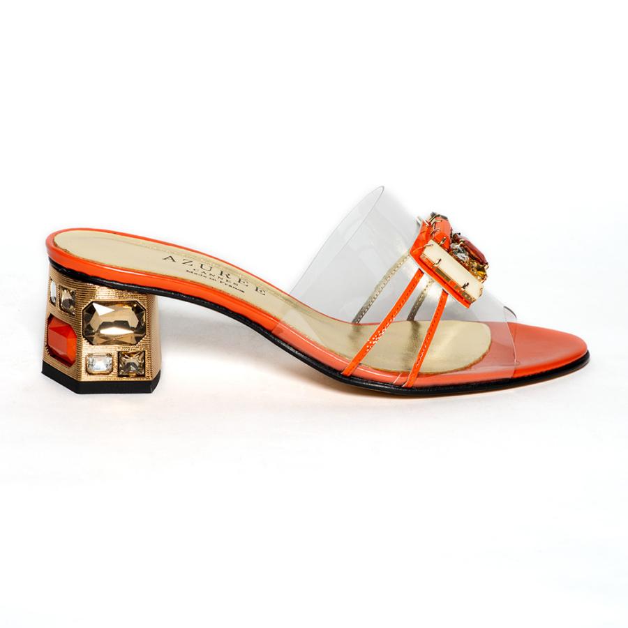 AZURRÉE narancssárga női szilikon papucs