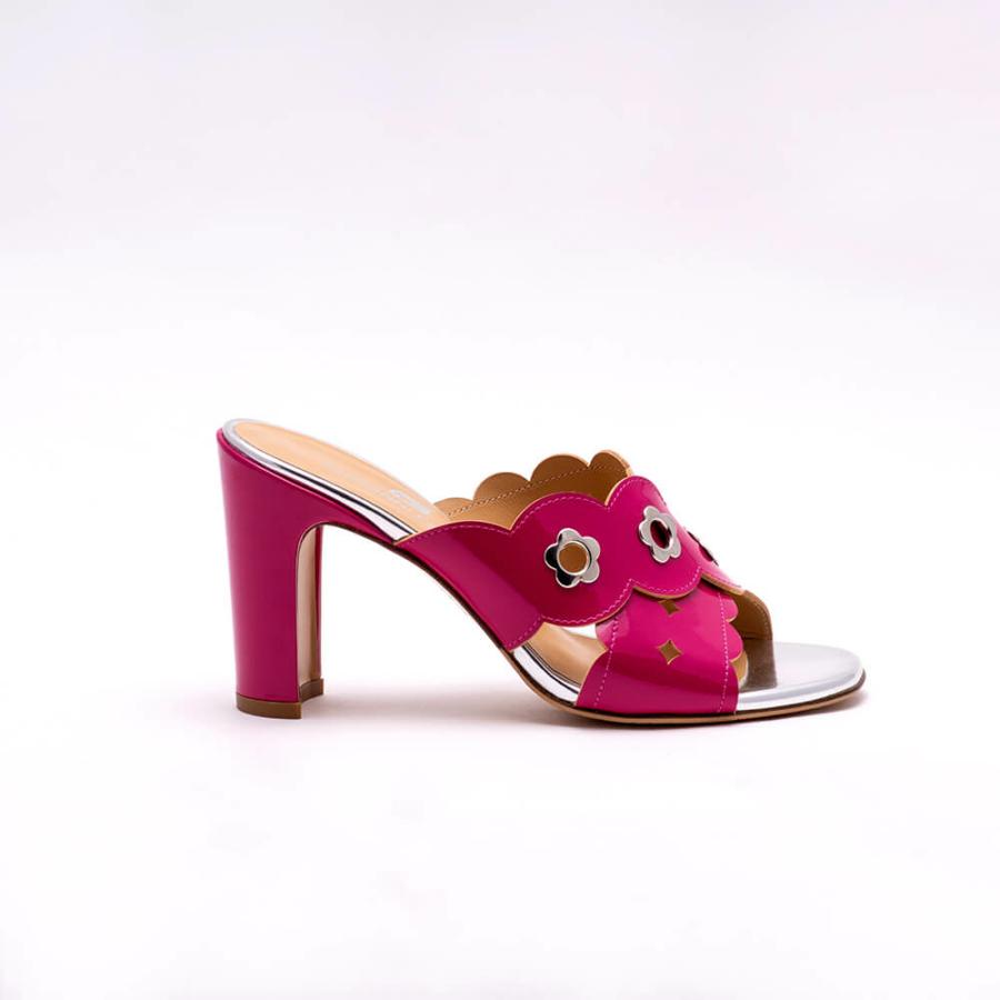 GIOVANNI FABIANI pink, lakkbőr papucs
