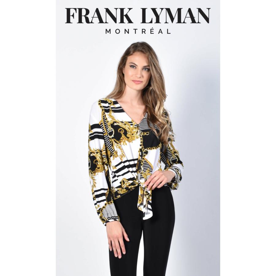 FRANK LYMAN elől megkötős hosszú ujjú női blúz