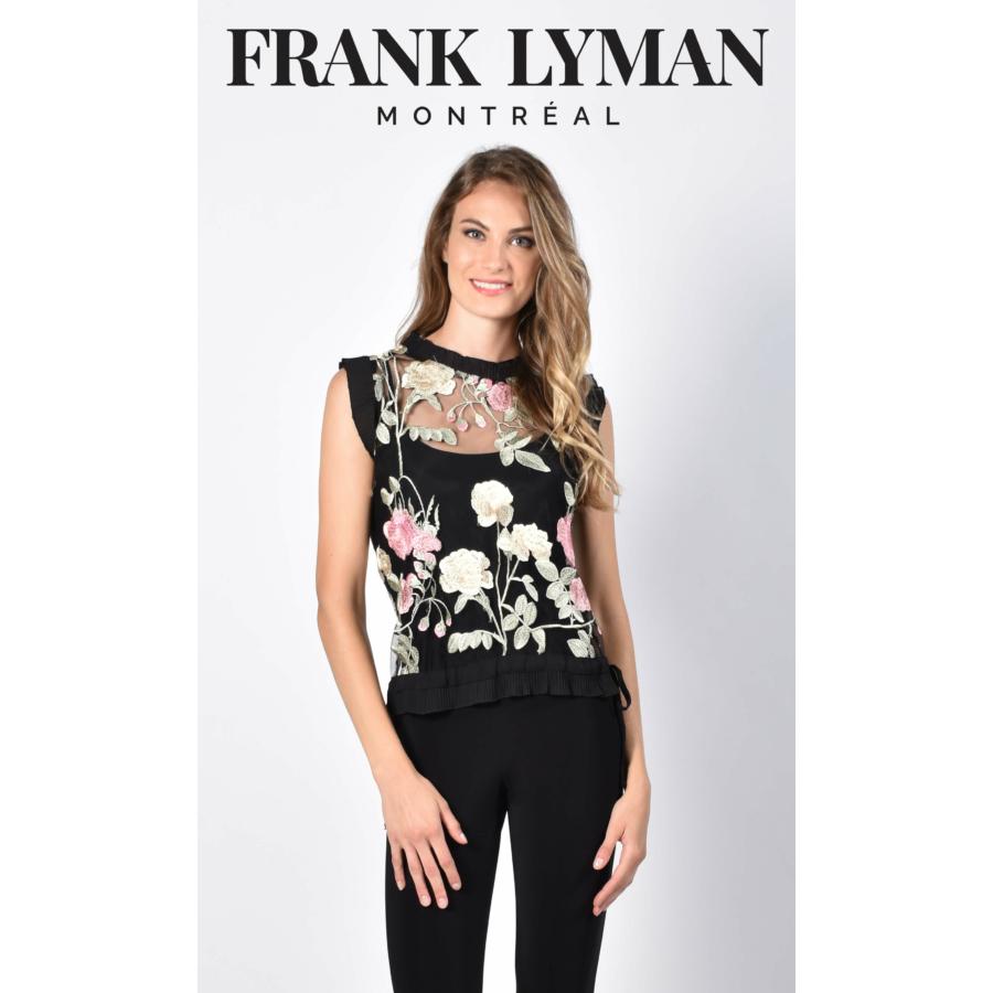 FRANK LYMAN fekete női csipkeblúz