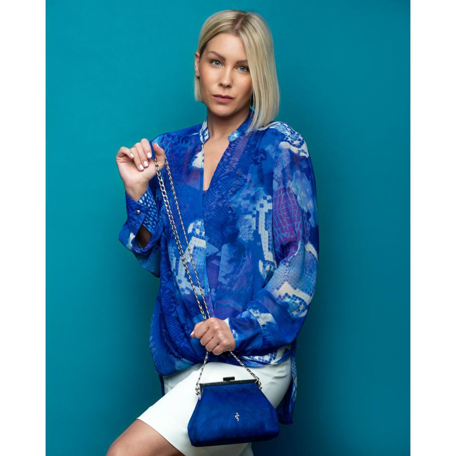 FRANK LYMAN kék női tunika