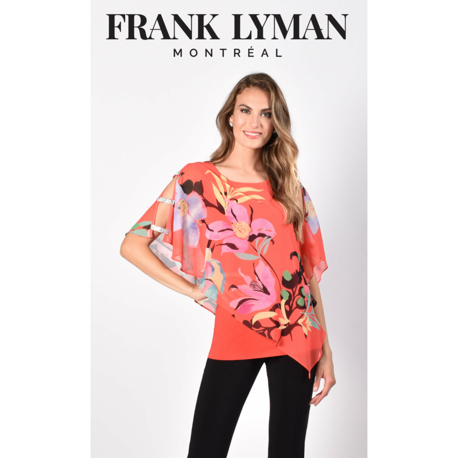 FRANK LYMAN női virágmintás tunika / blúz