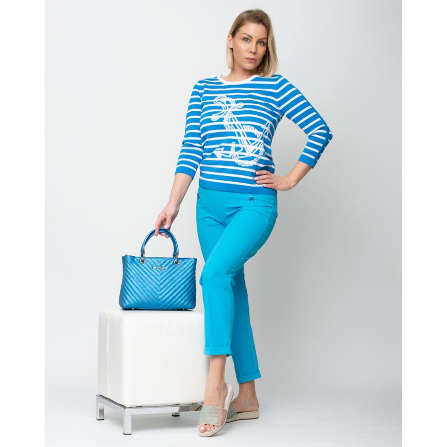 LEO&UGO női nyári csíkos pulóver