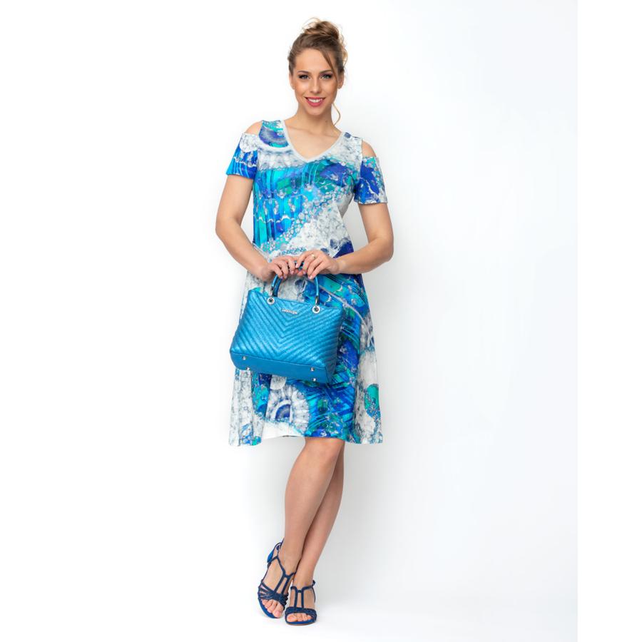DOLCEZZA kék női rövid ujjú ruha