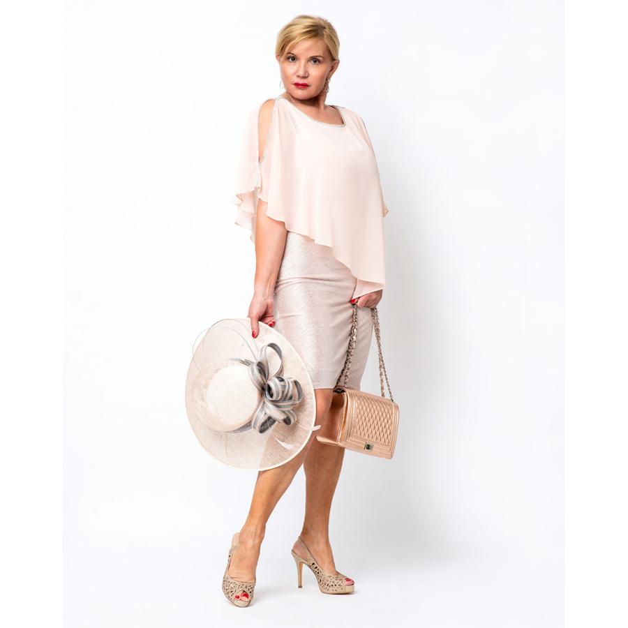 FRANK LYMAN barack színű női alkalmi ruha