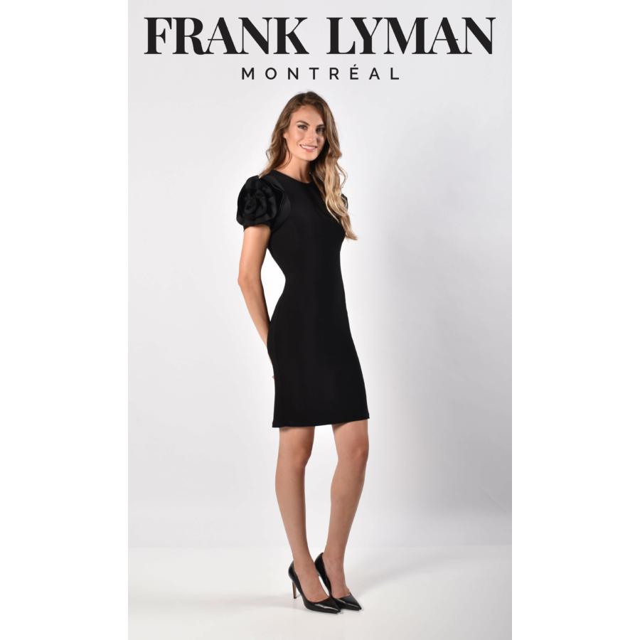 FRANK LYMAN fekete rövidujjú női ruha