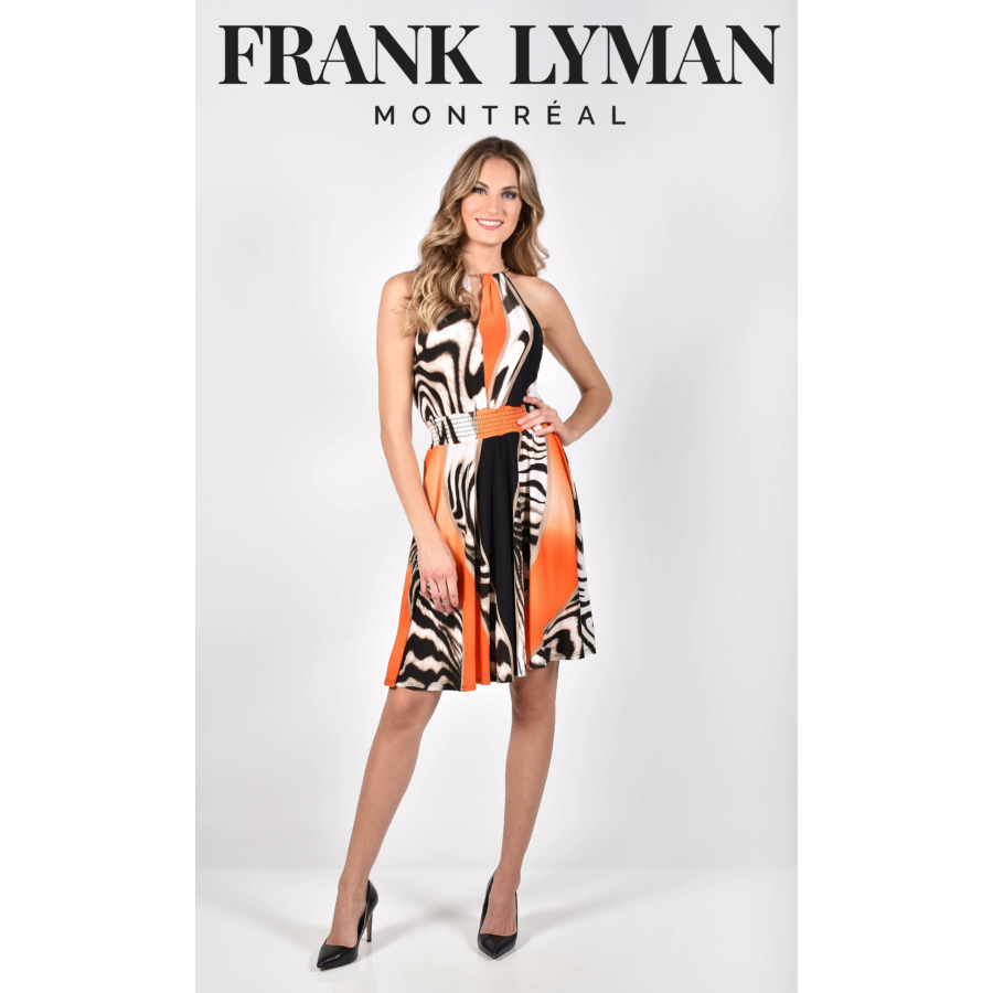 FRANK LYMAN gumírozott derekú női ujjatlan ruha