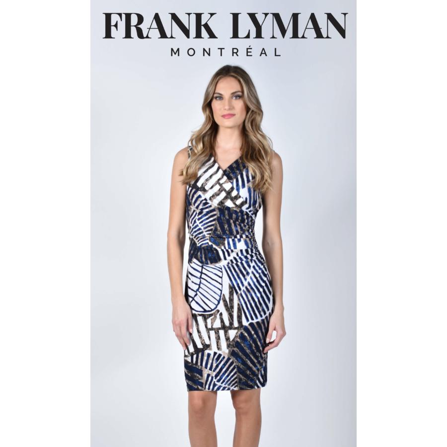 FRANK LYMAN kék-fehér női ujjatlan ruha