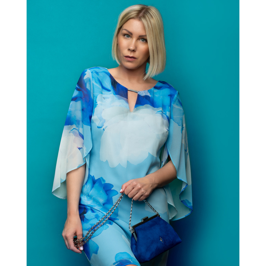 FRANK LYMAN kék mintás női ruha
