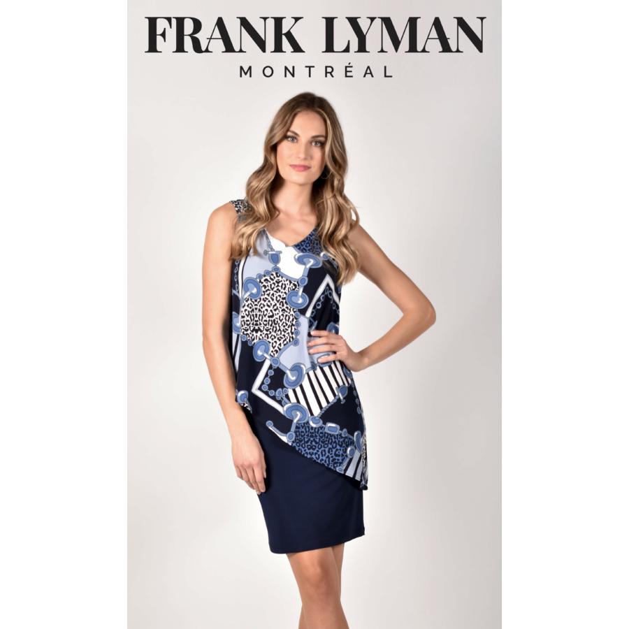 FRANK LYMAN kék ujjatlan női ruha