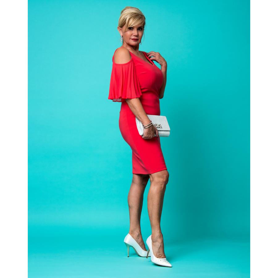 FRANK LYMAN korall színű női ruha (38)