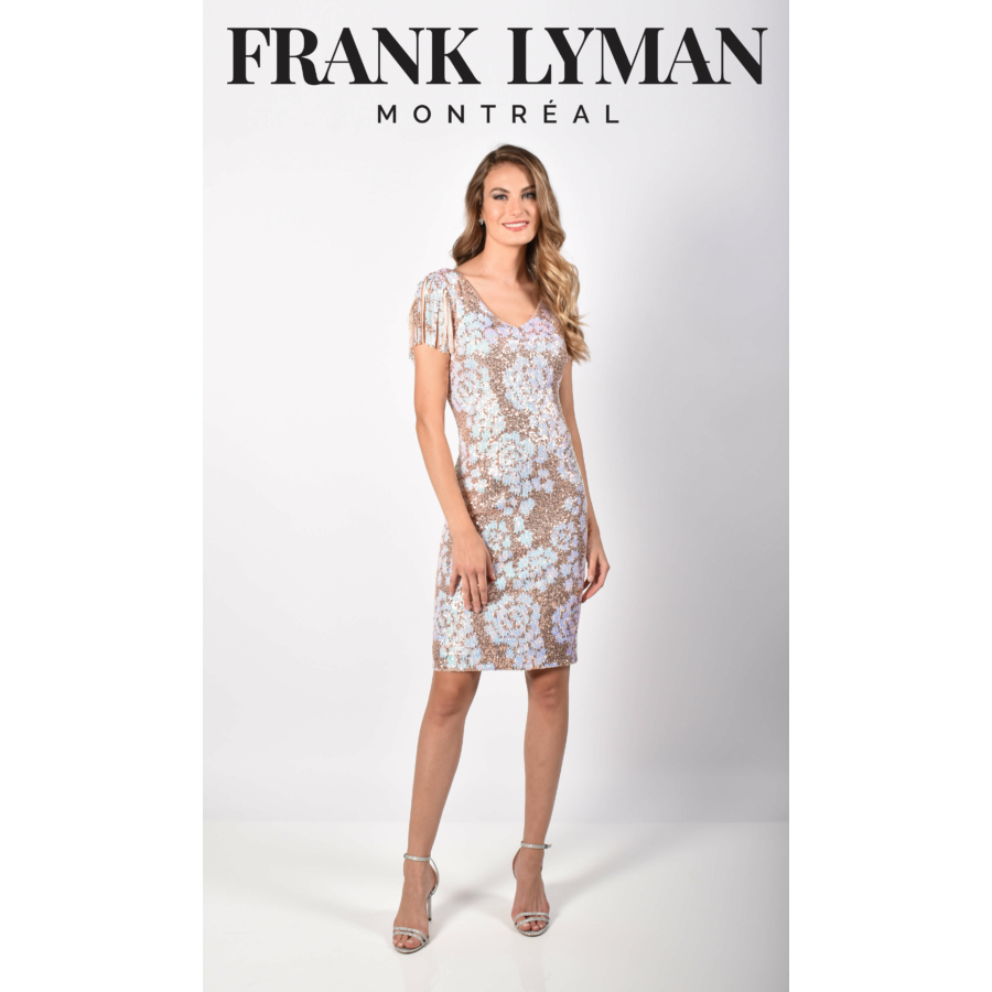 FRANK LYMAN női strasszos alkalmi ruha