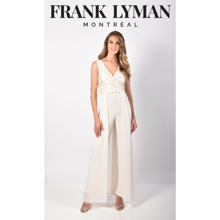 FRANK LYMAN női törtfehér alkalmi overall
