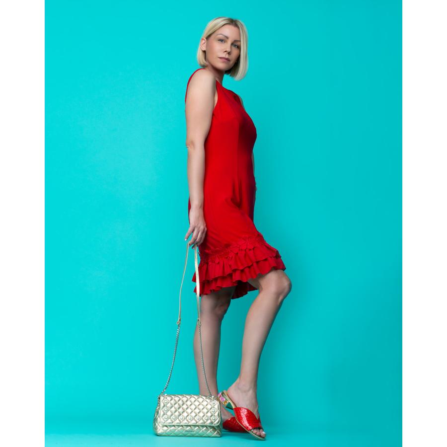 FRANK LYMAN piros női ujjatlan ruha