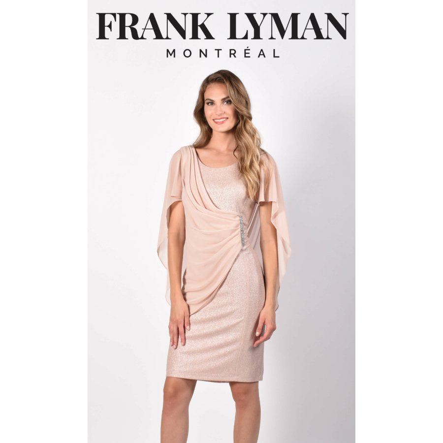 FRANK LYMAN rózsaszín strasszos női ruha