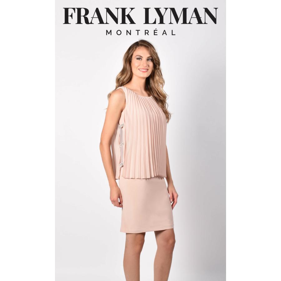 FRANK LYMAN női rózsaszín ujjatlan alkalmi ruha