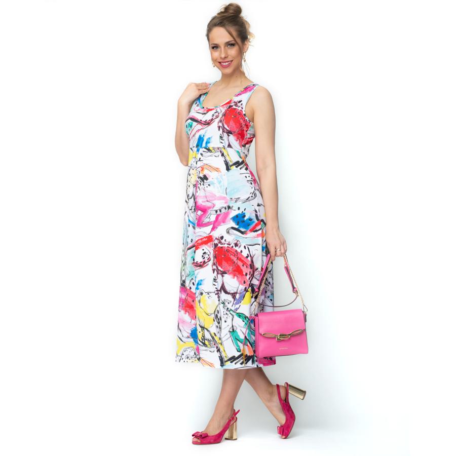 MALOKA vegyes színes női ujjatlan ruha (40)