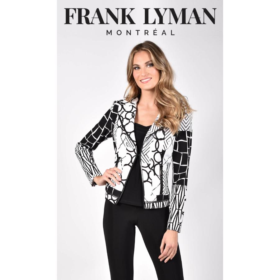 FRANK LYMAN fekete-fehér női zakó