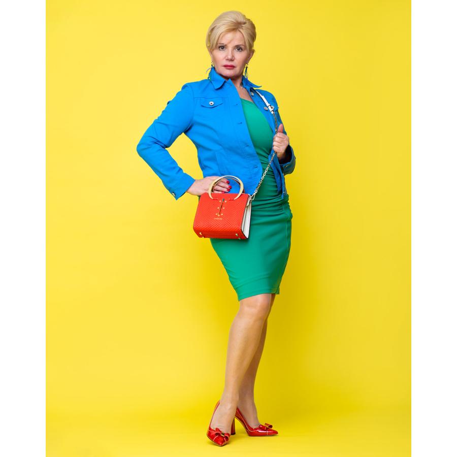 ROFA kék női vászon dzseki