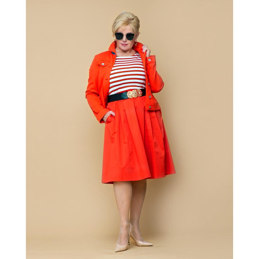 ROFA narancssárga női vászon dzseki