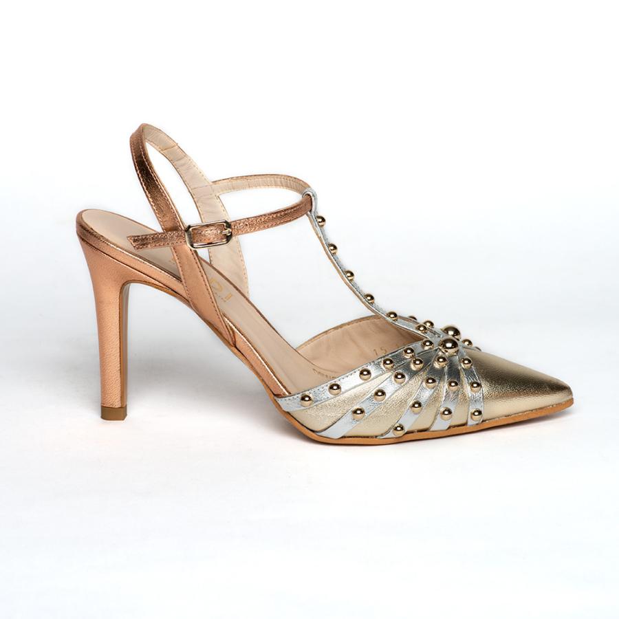 Lodi arany elől zárt női sling cipő