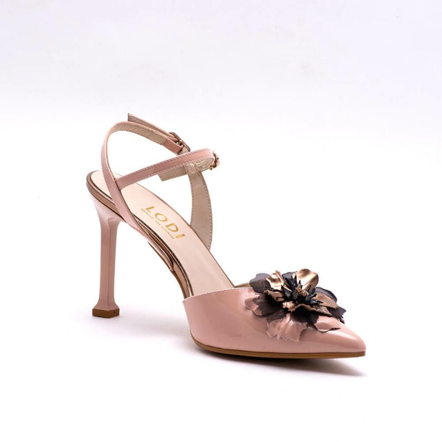 LODI rózsaszín lakk sling cipő