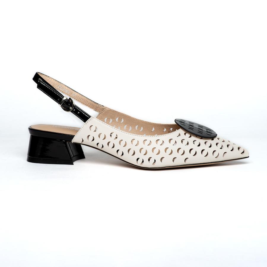LUCIANO BARACHINI csontszínű női sling cipő
