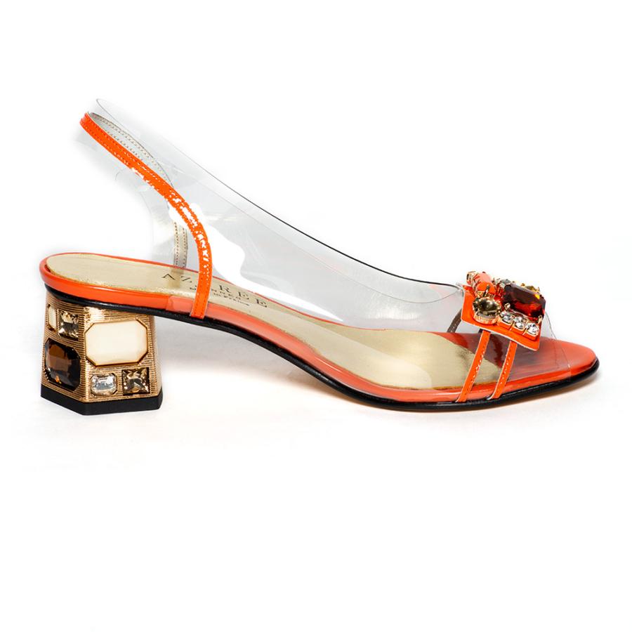 AZURRÉE narancssárga női szilikon szandál