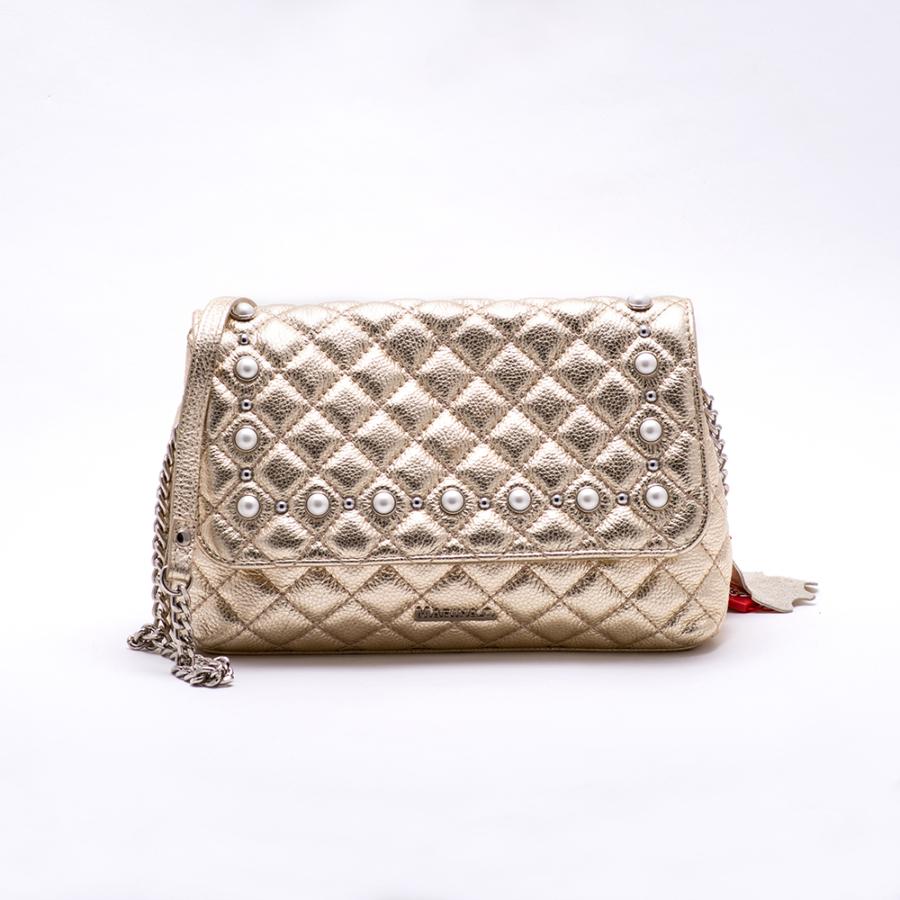MARINA C arany steppelt női táska