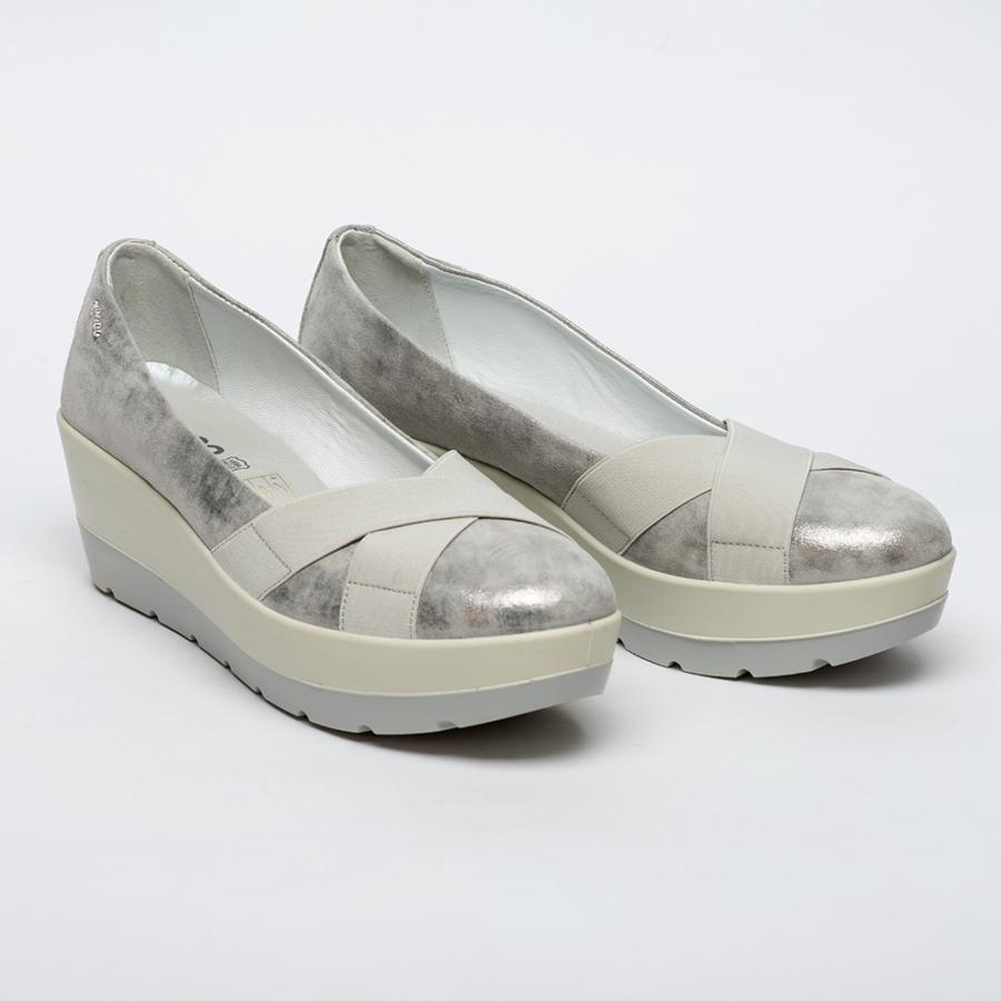IGI&CO női ezüst-fehér emelttalpú cipő