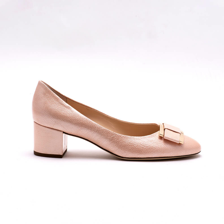 HÖGL rózsaszín magassarkú lakkcipő
