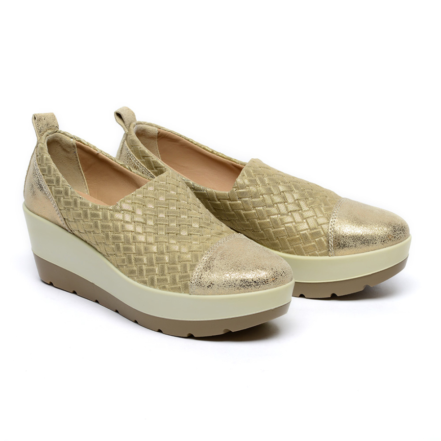 IGI&CO arany vastagtalpú női cipő