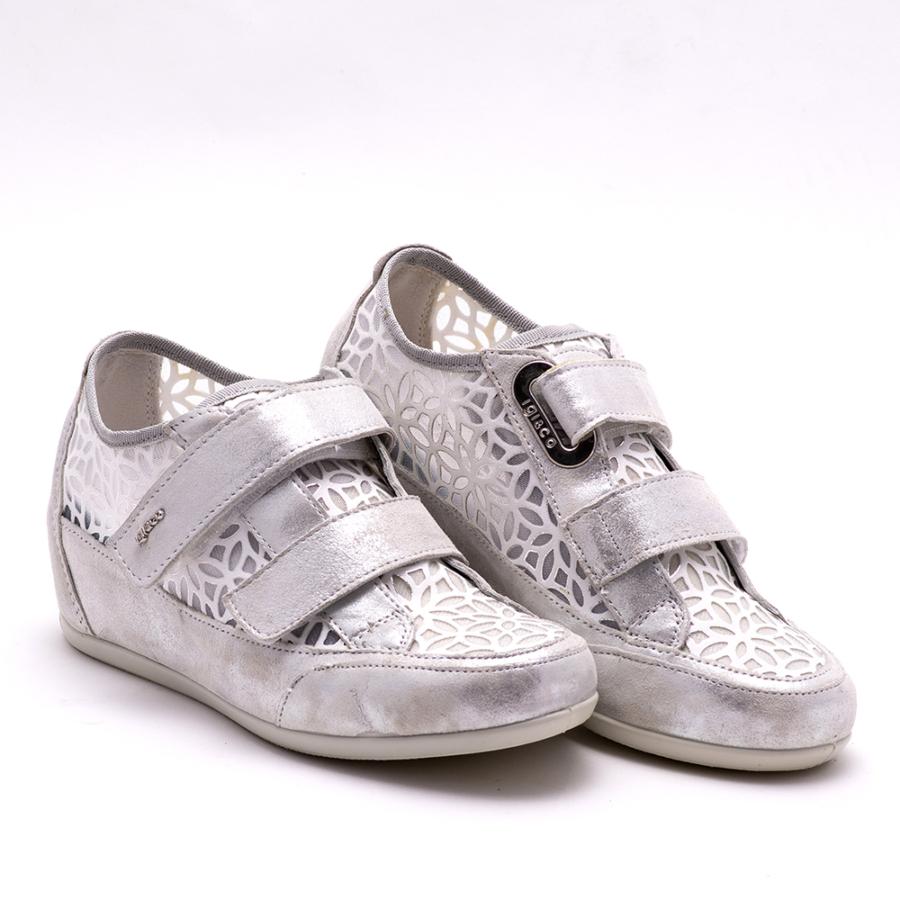 IGI&CO fehér bőr emelttalpú női cipő