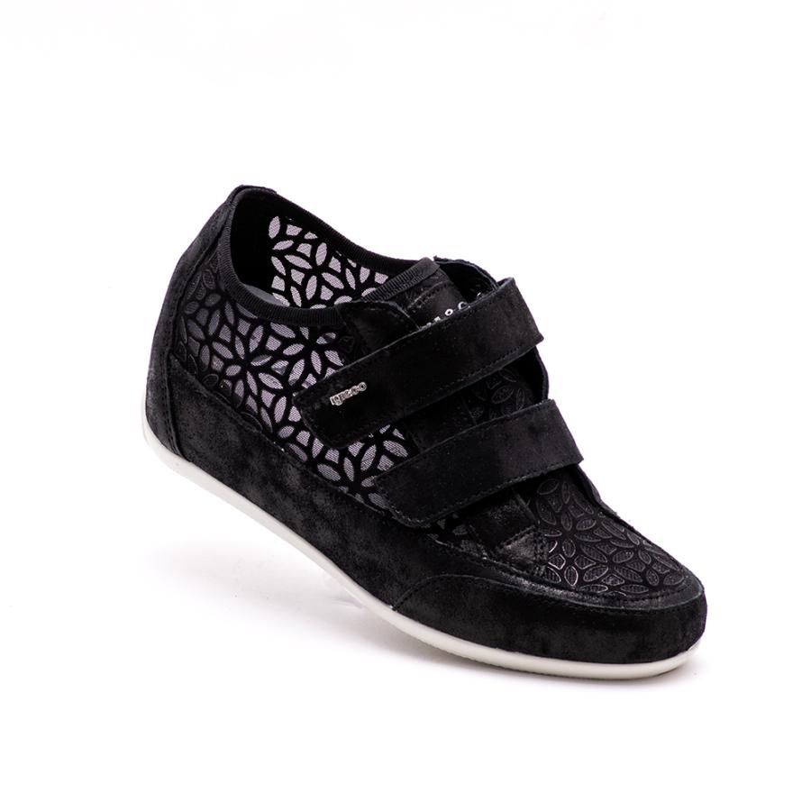 IGI&CO fekete bőr emelttalpú női cipő