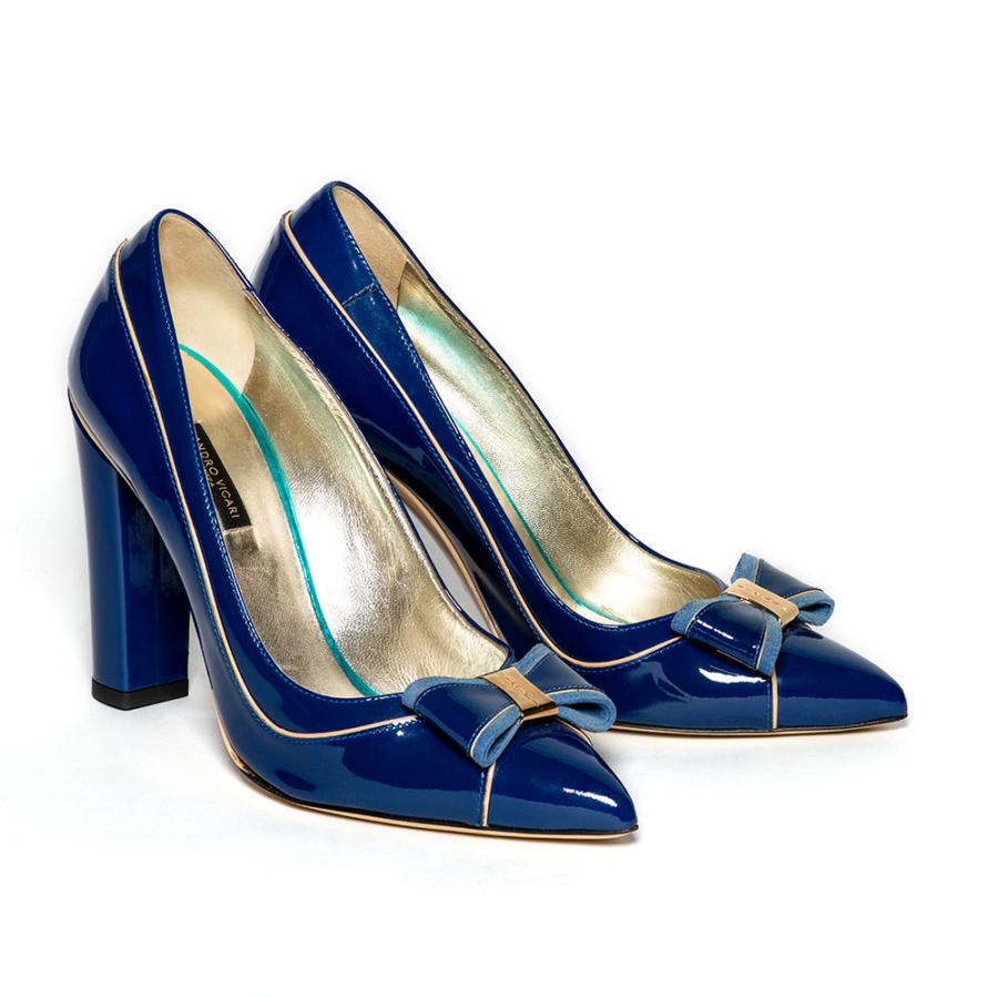 SANDRO VICARI királykék női magassarkú cipő