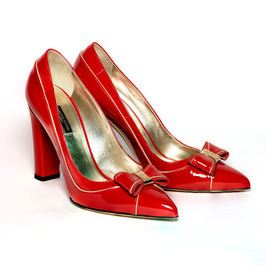 SANDRO VICARI piros női magassarkú cipő