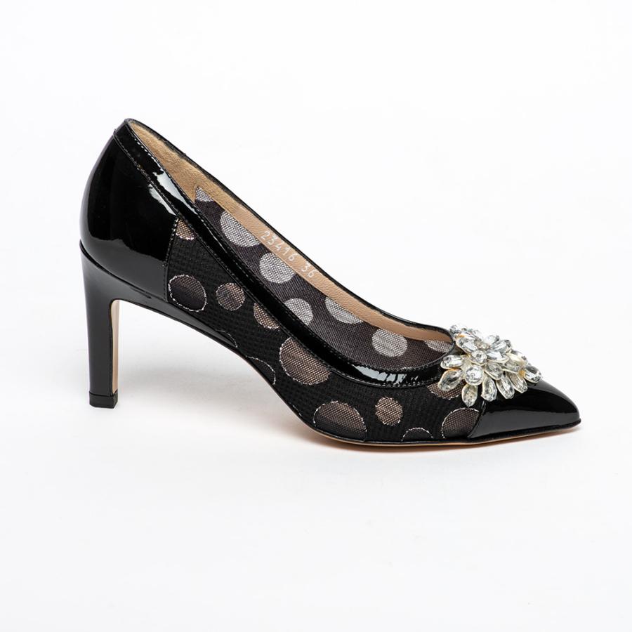 ZOCAL fekete magassarkú lakkcipő